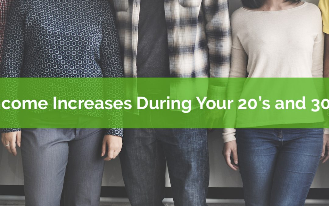 How Fast Will Your Income Increase In Your 20's and 30's?