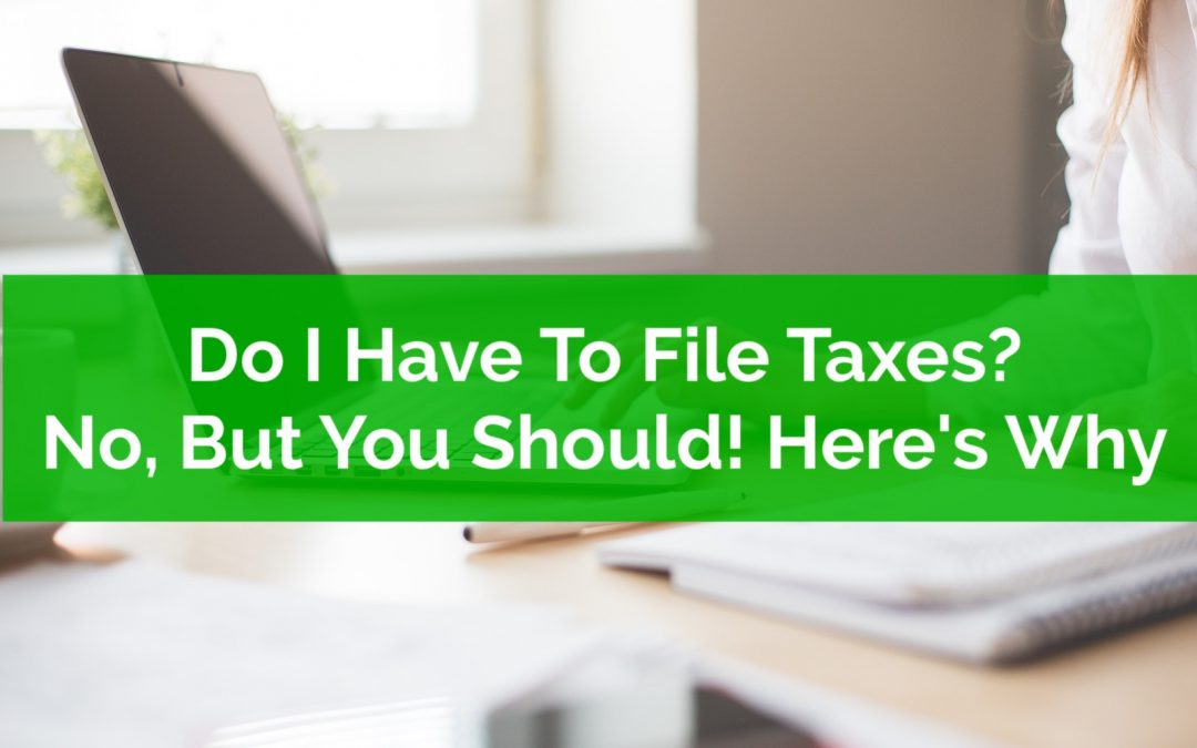 Do I Have To File Taxes? No, But You Should! Here's Why…