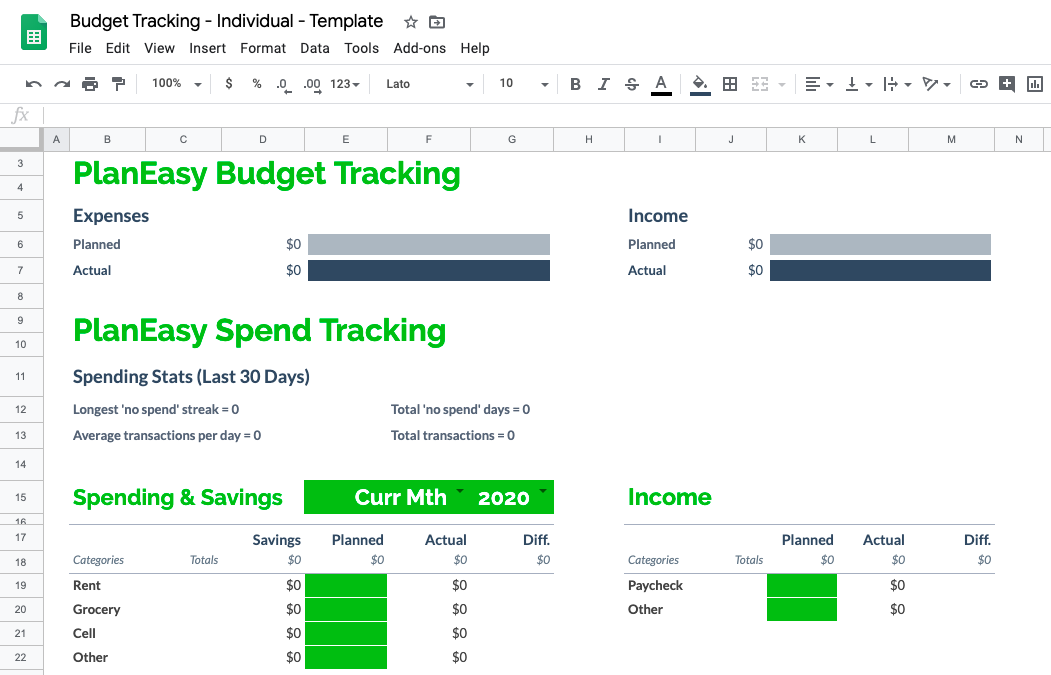 Spend Tracking and Basic Budgeting
