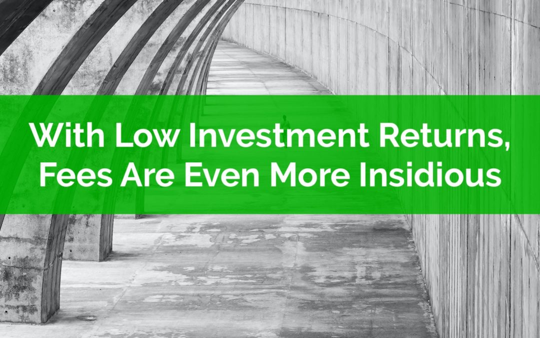 With Low Investment Returns, Fees Are Even More Insidious